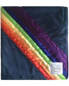 Rainbow Blanket - Navy Minky Baby Blanket