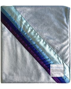 Sky Blanket Blue Minky Baby Blanket