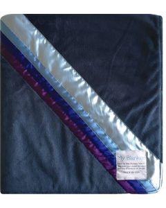 Sky Blanket Navy Minky Baby Blanket